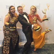 """We love a good candid shot backstage at #EmmysArts!"" - Emmy Awards - September 12, 2015 Courtesy televisionacad IG"
